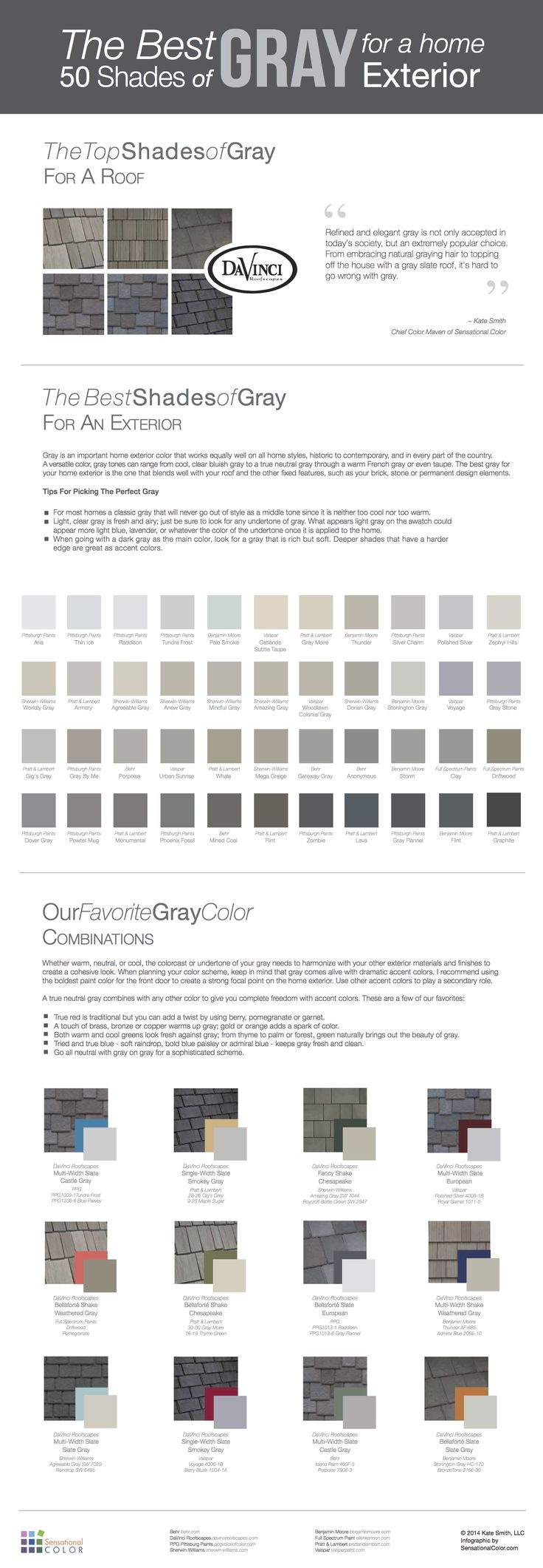 Best 50 Shades Of Gray For A Home Exterior Infographic