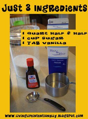 3 ingredient homemade ice cream