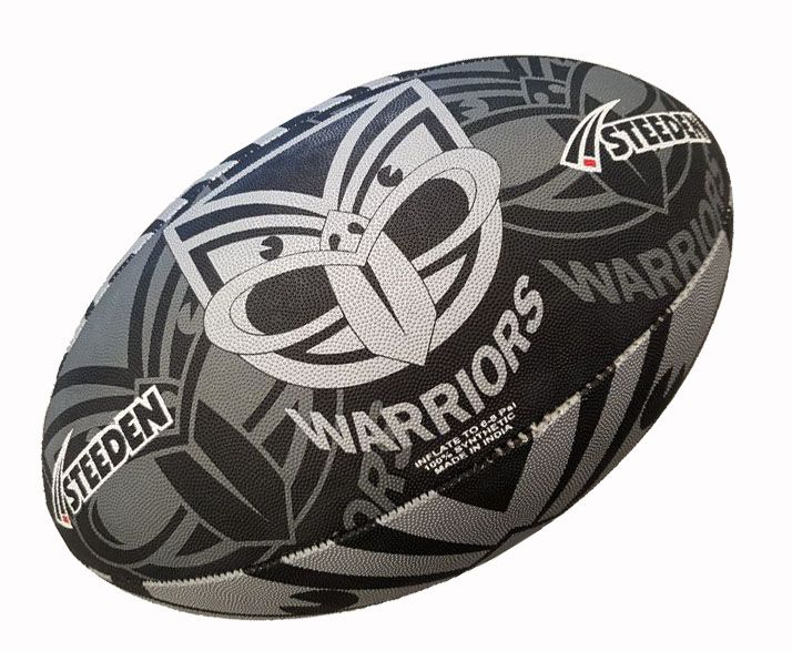 New Zealand Warriors Rugby Ball by Steeden