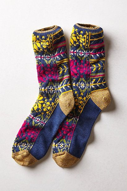Kapital Fairisle Socks - Anthro