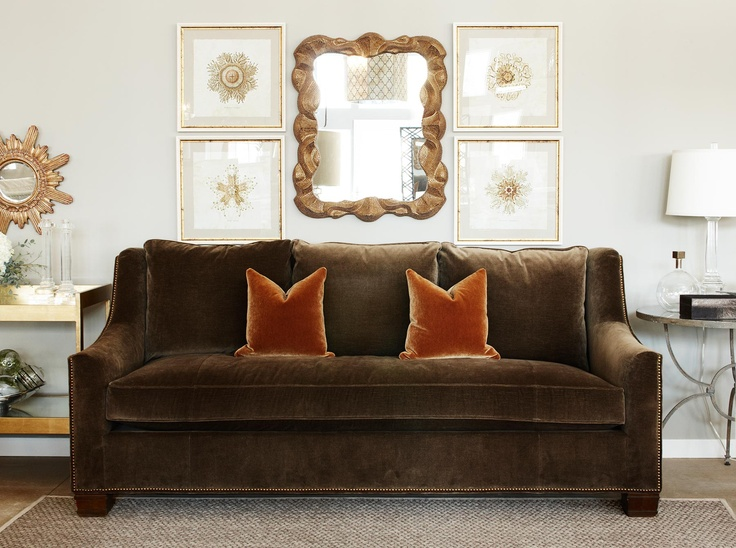 Living Room With A Sofa And Chair