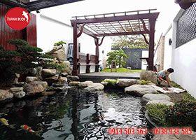 Hồ cá koi sân thượng, ho ca koi san thuong - 0914 503 563 - 0938 938 585 Website:http://nonbothanhson.com.vn/ho-ca-koi/ho-ca-koi-san-thuong/