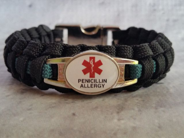 Medical Id Penicillin Allergy Paracord Bracelet Bracelets Pinterest And