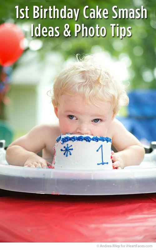 1st Birthday Party Cake Smash Ideas & Photo Tips at iHeartFaces.com