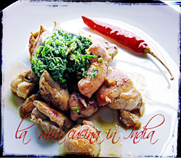 La mia cucina in India: Pollo con gremolata di coriandolo fresco e lime