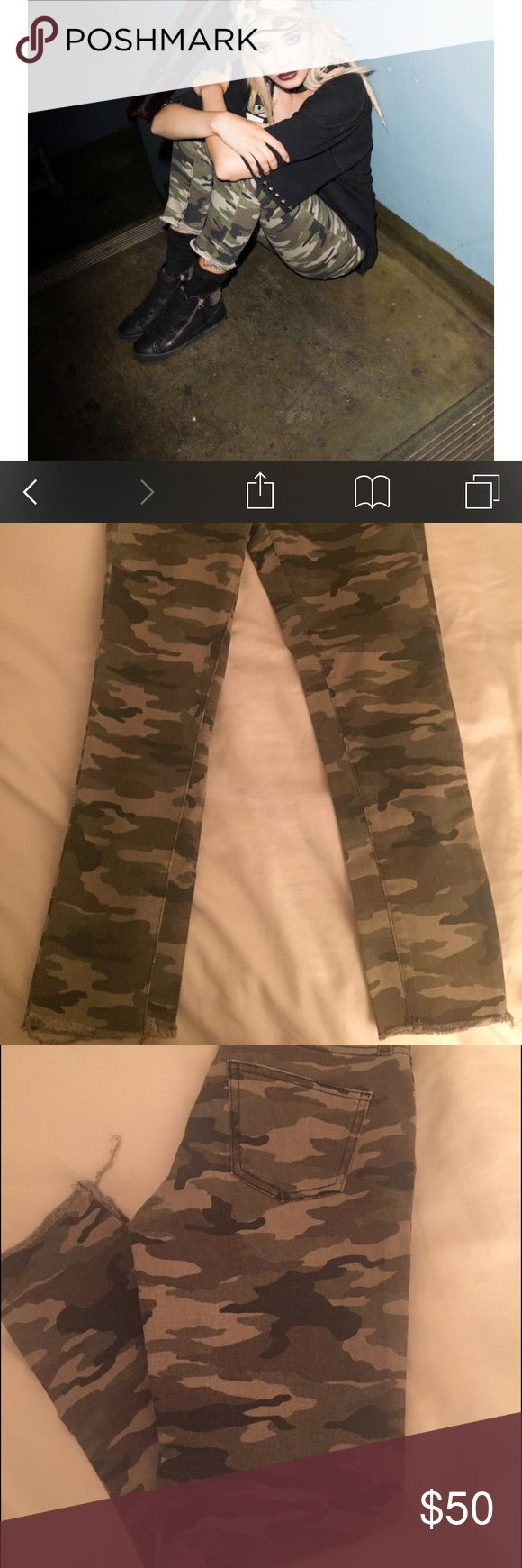 Carmar camoflage jeans brand new size 26 Brand new never worn super cute camo jeans LF Jeans Ankle & Cropped