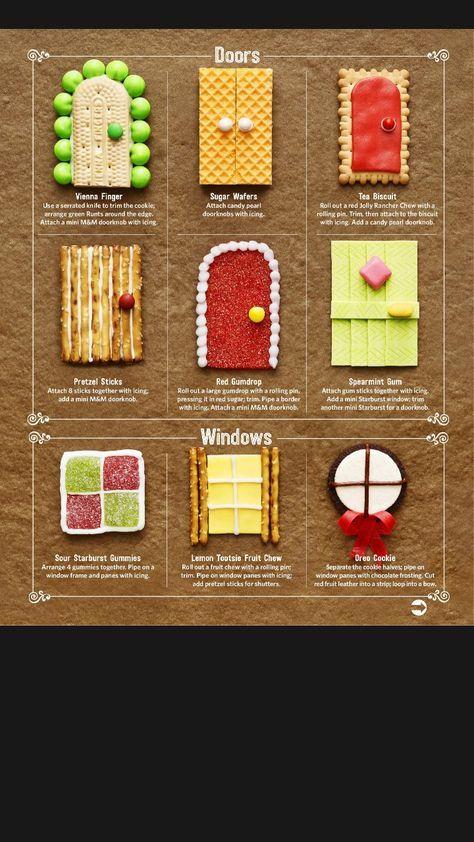 Gingerbread House Doors & Windows