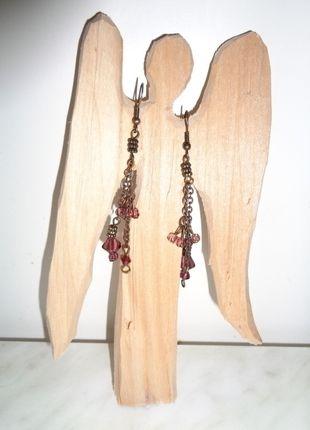 Kupuj mé předměty na #vinted http://www.vinted.cz/doplnky/nausnice/12483906-elegantni-retizkove-nausnice-s-fialovymi-koralky