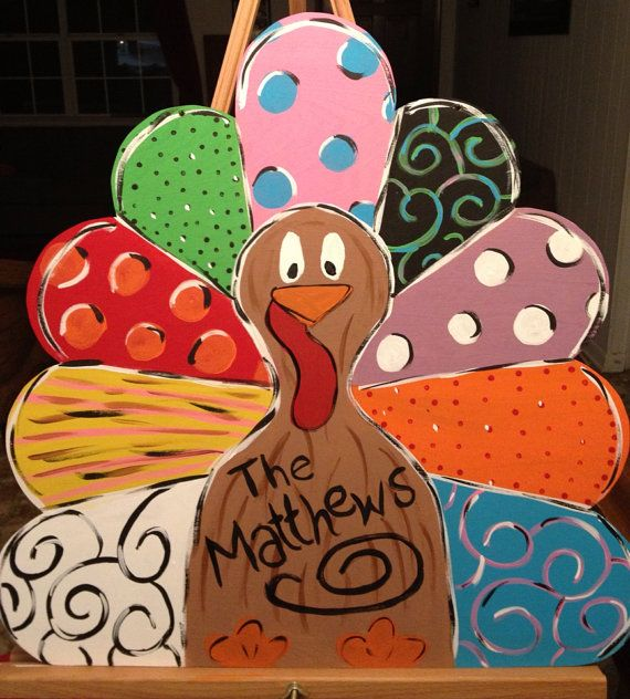 Tom The Thanksgiving Turkey Wooden Door Hanger Wreath On Etsy 4000