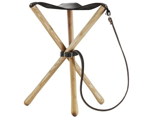 Wool & Leather Camp Stool