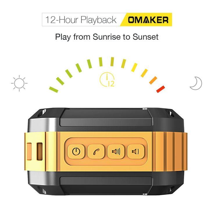 Amazon | オーメイカー(Omaker) 防水/耐衝撃Bluetoothスピーカー Bluetooth4.0+EDR オレンジ M4 | デジタルオーディオ用スピーカー オンライン通販