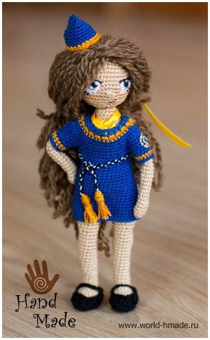 Куколка стюардесса Натали. Вяжем игрушку крючком. ♡