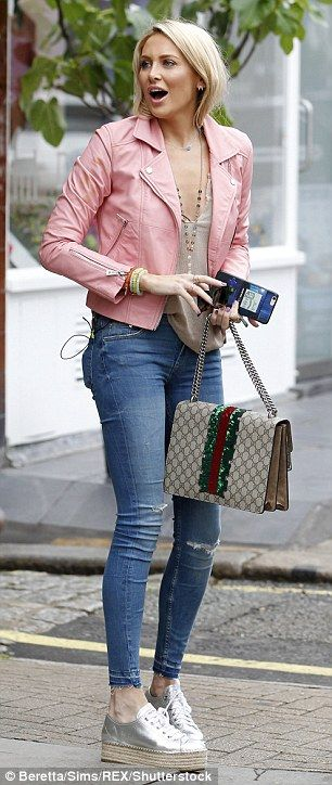 Gentleman, line-up! Made In Chelsea's Stephanie Pratt, 30, was spotted filming…