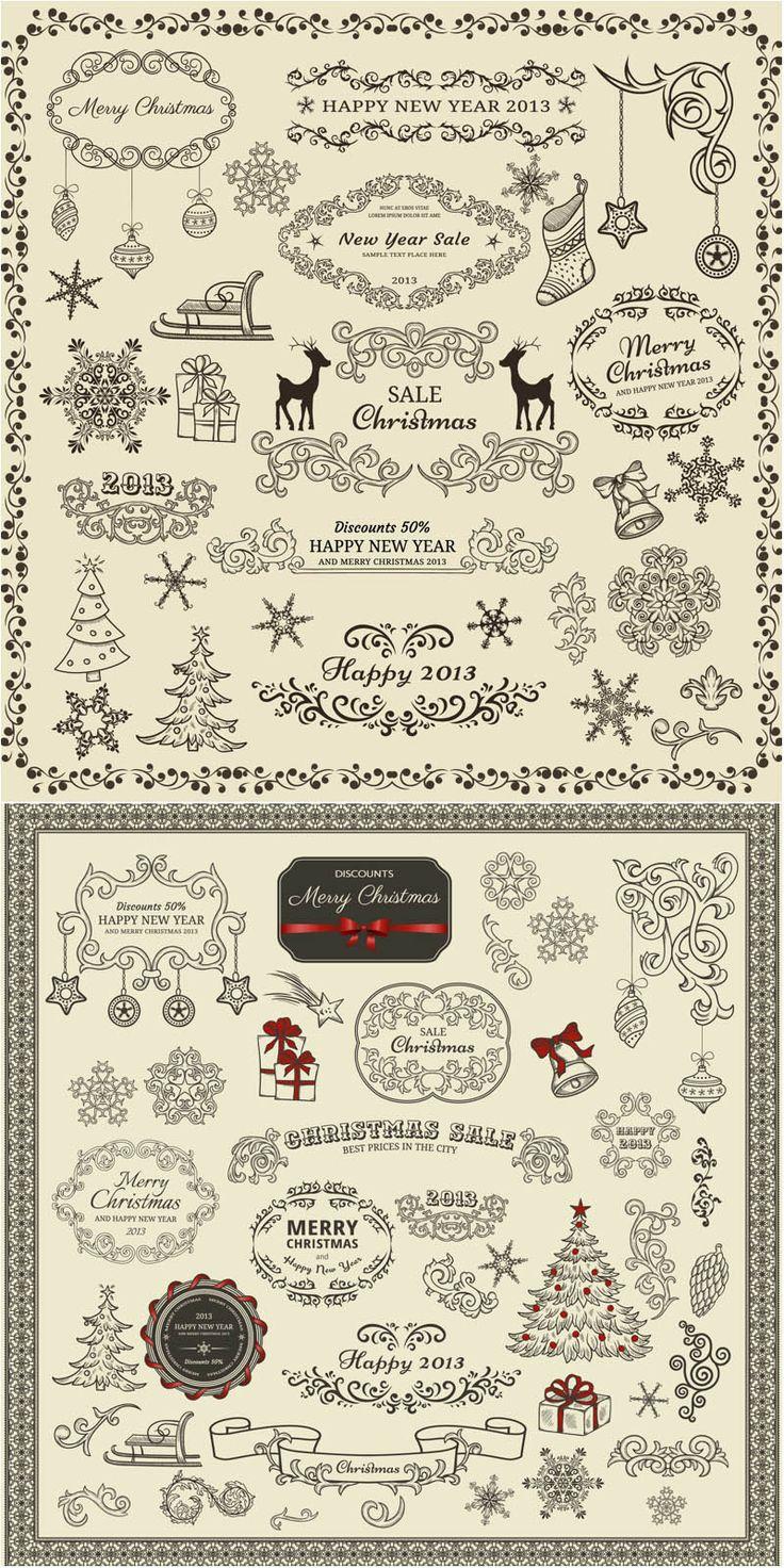 Classic #Christmas embellishment #vector
