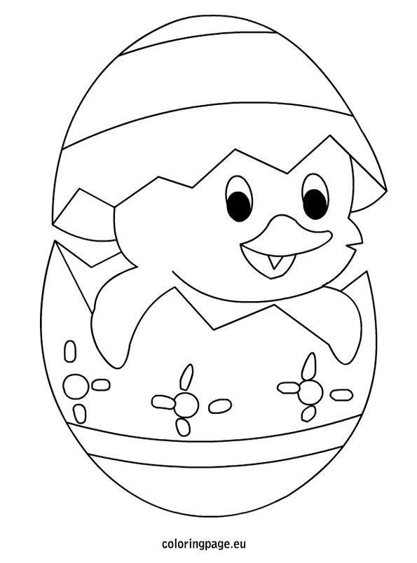 Küken im Ei Easter colouring Easter coloring pages
