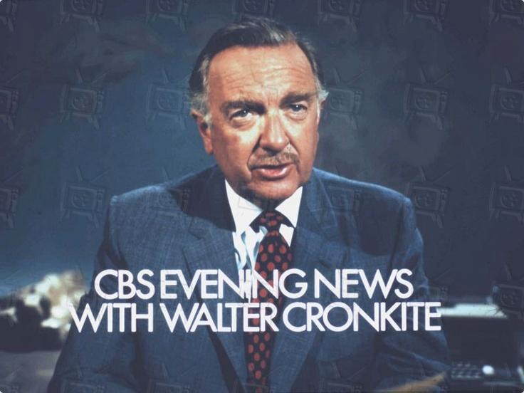 CBS Evening News with Walter Cronkite | TV Slides | Pinterest  CBS Evening New...