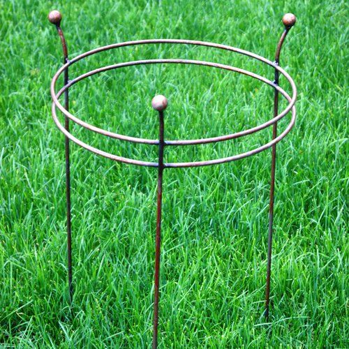 Double Ring Frame Poppy Forge Size Large Plant Supports