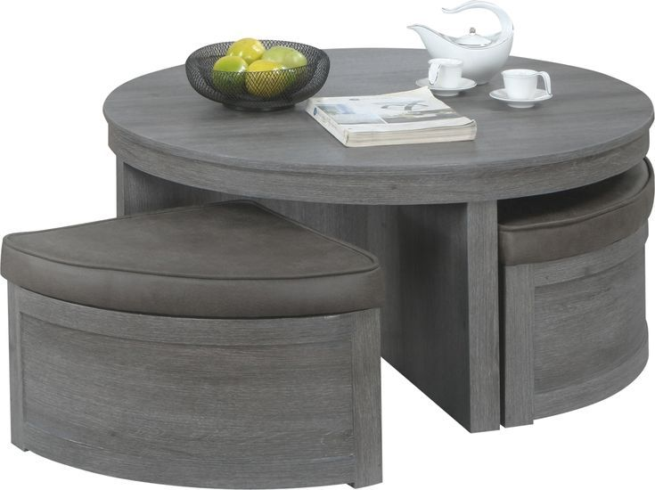 Darien Gray Cocktail Table With Storage Ottomans Storage Ottoman Ottoman Cocktail Tables Ottoman coffee table with storage