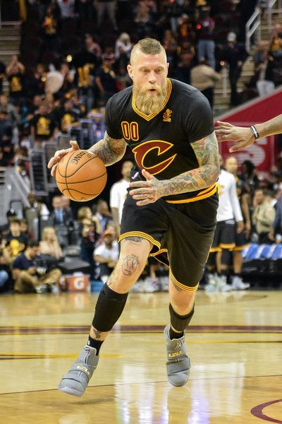 Chris Andersen Photos Photos - Chris Andersen #00 of the Cleveland Cavaliers controls the ball against the New York Knicks on October 25, 2016 at Quicken Loans Arena in Cleveland, Ohio. NOTE TO USER: User expressly acknowledges and agrees that, by downloading and or using this photograph, User is consenting to the terms and conditions of the Getty Images License Agreement. - New York Knicks v Cleveland Cavaliers