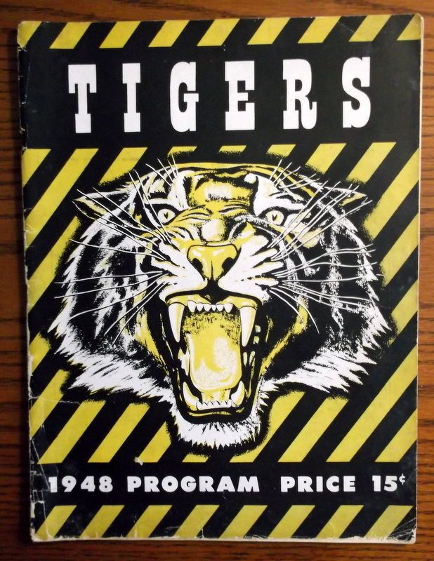 Hamilton Tigers 1948 RARE Opening Game Program