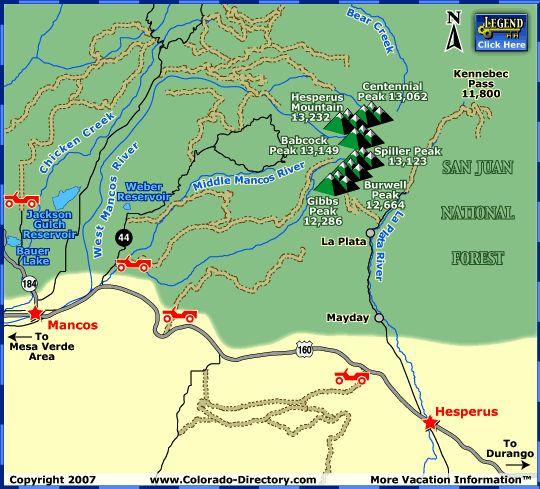 Durango Atv Jeep Trails Map Co Colorado Vacation