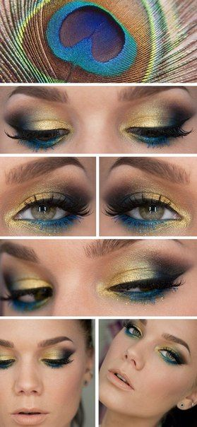 макияж павлинье перо - Поиск в Google