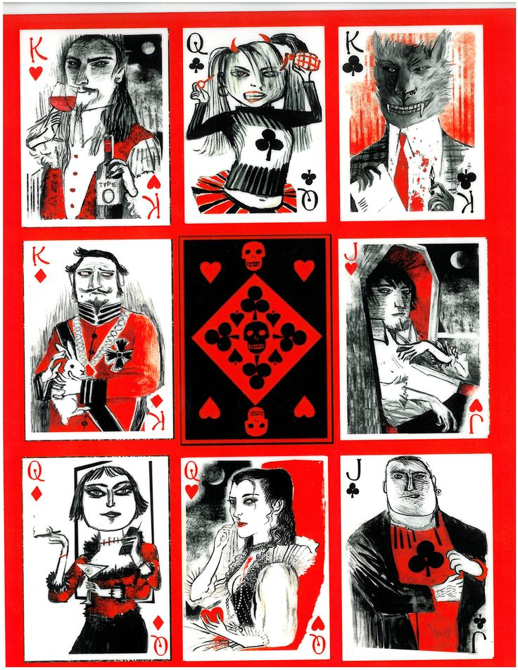 All the face cards from the Bag of Bones deck. Mad kings ...