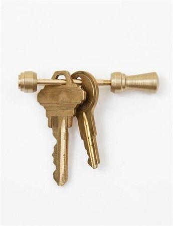 Postalco : Tall Totem Key Holder- Gold