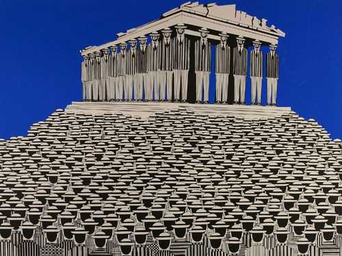 Γαίτης, #Gaitis #parthenon #greece #art #painting