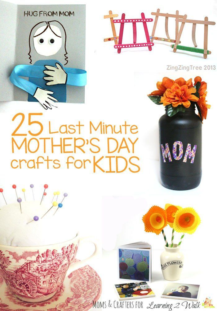 Last minute Mother's Day crafts for kids from @learning2walk