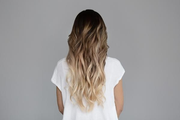 Honey Dipped is the trifecta of our ombré shades. The top section is a dark chocolate brown (Sweet Cola) with warm tones, which gradually fades into a lighter brown, ending with a dark, warm blonde wi