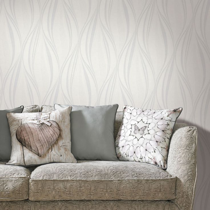 Graham And Brown Wallpaper Vinyl Tango White/Silver Part 69