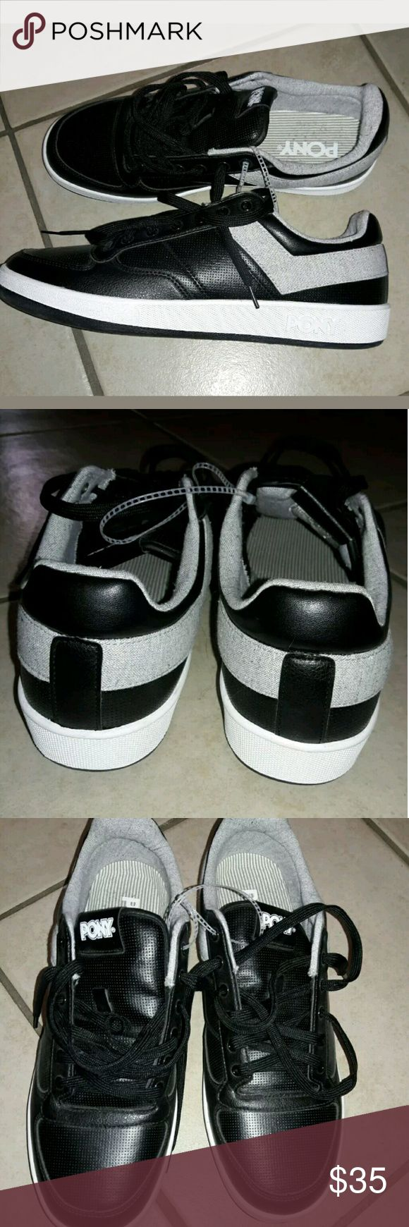 Pony sneakers black size 13 men NEW New vintage style PONY sneakers size 13v brand new in black!! pony Shoes Sneakers