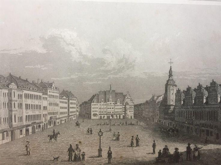 Annons på Tradera: Leipzig Tyskland  Antik Etsning Topografisk Plansch 1840 Das kleine Universum