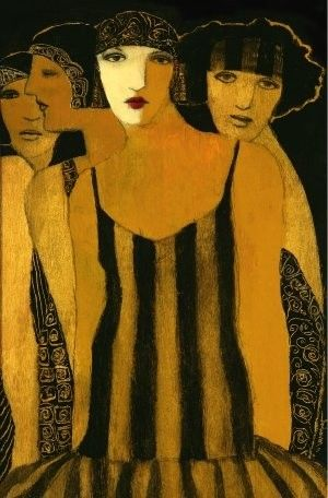 Art Decó style ~ by Cynthia Markert ~ 'Four Women'