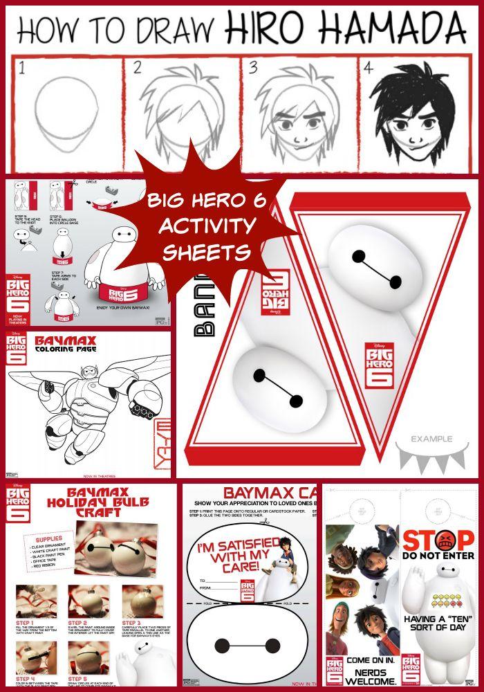 Big Hero 6 Activity Sheets BigHero6