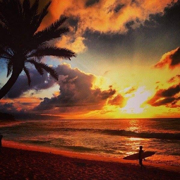 Схід сонця на Гаваях.
