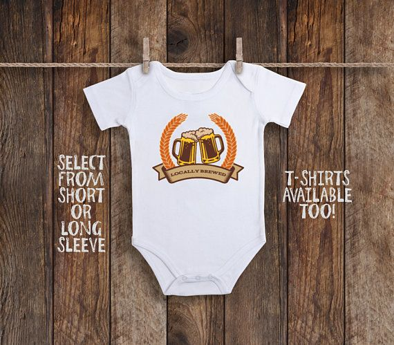 4ef1c69c3 Locally Brewed Onesie, Home Grown Onesie, Beer Baby Shower, Hipster Baby  Clothes, Baby Boy Bodysuit, Baby Girl Onesie, Take Home Outfit