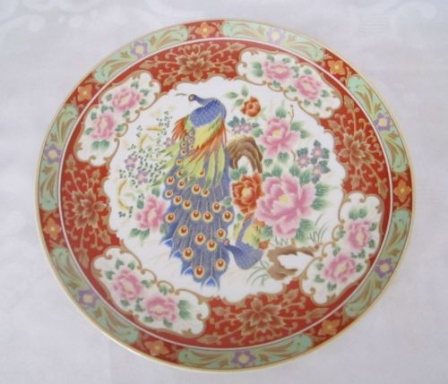 Porcelain Enameled Chinese Signed Charger Plate  Peacock Flowers Vintage Antique in Antiques, Asian Antiques, China, Plates | eBay