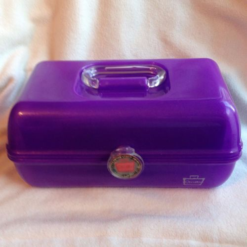 Caboodles-Purple-Mirror-Makeup-Case-Organizer-Vanity-Glitter-Pageant-Metallic