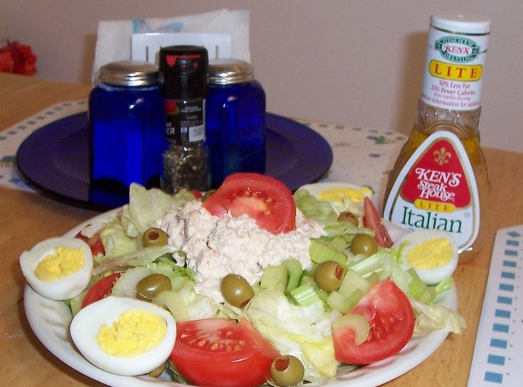 Tuna Salad Plate Recipe   Just A Pinch Recipes Watch the salad dressing though