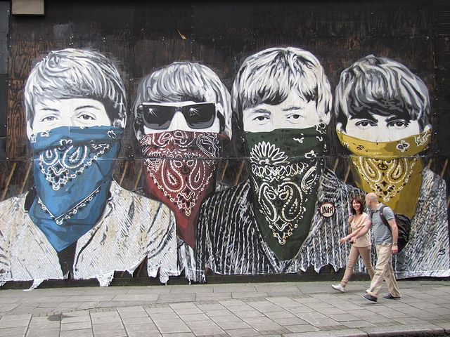 85 best images about the beatles on pinterest abbey for Mural mr brainwash