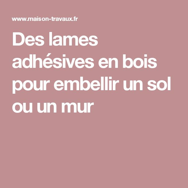 12 best Diy lames vinyles auto-adhésives pvc images on Pinterest - Cout Renovation Electricite Maison