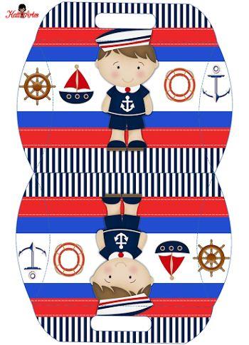 Little Sailor: Free Printable Pillow Box.
