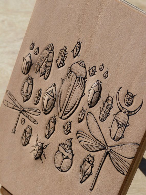 Tattooed leather art.Handmade. Inked with a di PuncturedArtefact