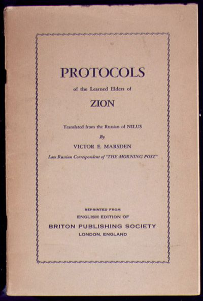 Protocols of the Learned Elders of Zion cover