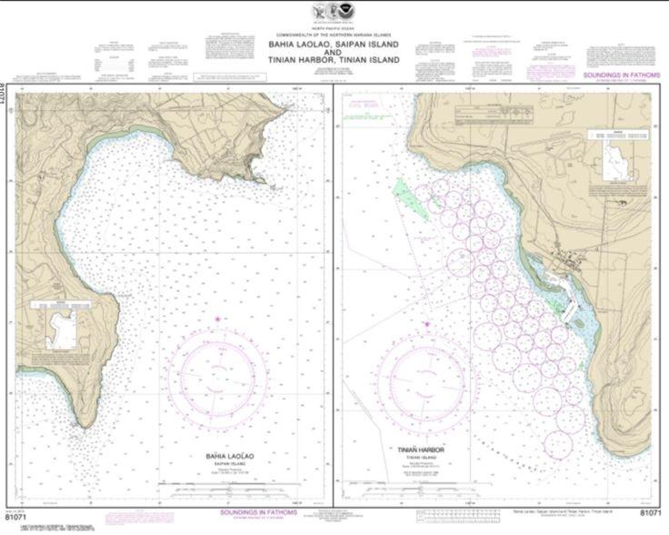 Commonwealth of the Northern Mariana Islands Bahia Laolao, Saipan Island and Tinian Harbor, Tinian Island (81071-8) by NOAA