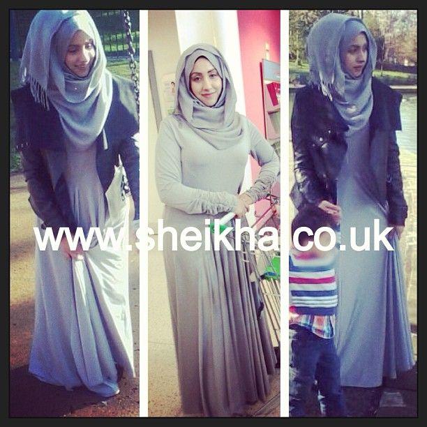 #分享Instagram Grey Umberella Abaya  Also in Black/Gold/Navy #sheikha #park #tesco #shopping #leather #jacket #asda #pashmina #hijaab #scarf