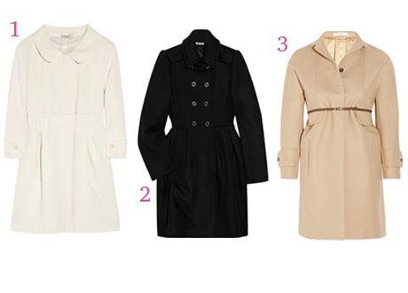 Гардероб по типу фигуры: А-силуэт, пальто /  Nina Ricci, Miu Miu, Carven