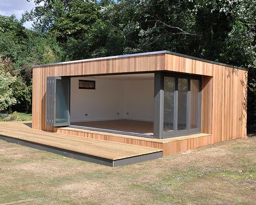 Contemporary Garden Studio With Decking